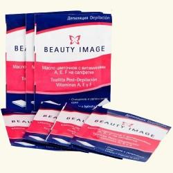 Салфетки с цветочным маслом после депиляции Beauty Image 10 штук фото