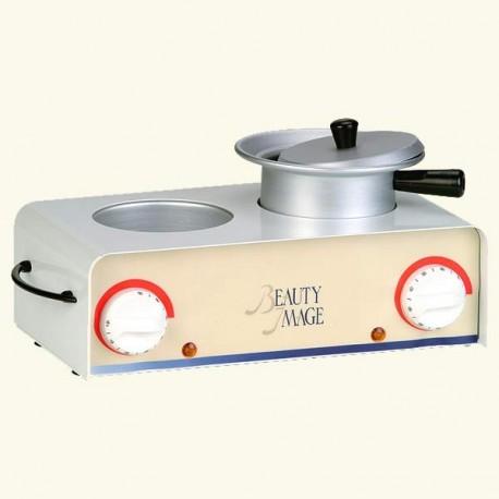 Нагреватель металлический двойной с кастрюлькой фото