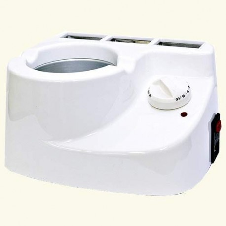 Мультисистемный нагреватель на 3 кассеты с емкостью для разогрева горячего воска Combi Wax фото
