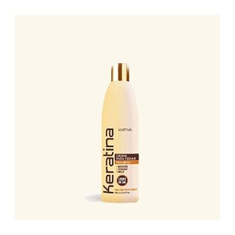 Кератиновый укрепляющий крем для укладки для всех типов волос фото
