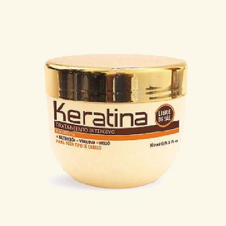 Маска для поврежденных и хрупких волос кератиновая интенсивно восстанавливающая KERATINA фото