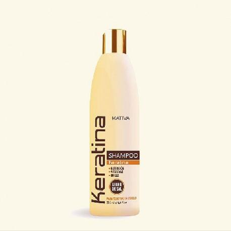 Шампунь для всех типов волос кератиновый укрепляющий KERATINA фото