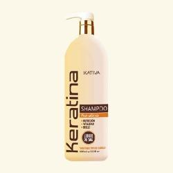 Шампунь кератиновый укрепляющий для всех типов волос KERATINA