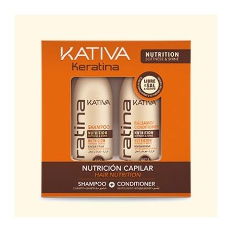 KERATINA Набор укрепляющий шампунь + кондиционер с кератином для всех типов волос фото
