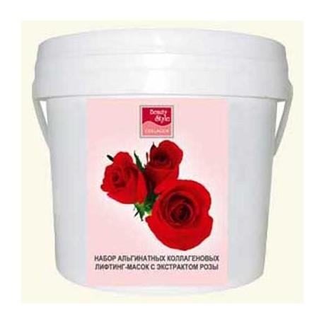 Маска альгинатная лифтинговая с эктрактом розы Beauty Style 1 кг фото